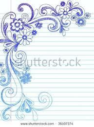 Flower Border Designs For Paper Paper Borders Design Hand Drawn Flower Border Doodles On Lined