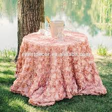 wedding decorative table clothround rosette table cloth long center table cloth