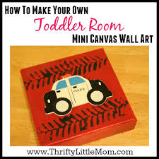 how to make your own toddler room canvas wall art on toddler canvas wall art with mini canvas wall art for a toddler room thrifty little mom