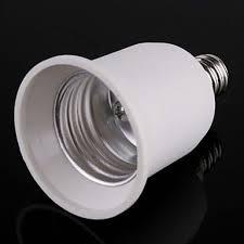 zdm 1pc e12 to e26 e27 adapter chandelier light socket e12 to medium socket e26 e27