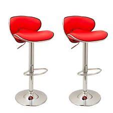red leather bar stools. 2x Red Casino Faux Leather Breakfast Bar Stools Swivel Gas Lift Chairs