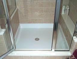 fiberglass r pan cleaner custom base installation clean floor how do you to tile over shower
