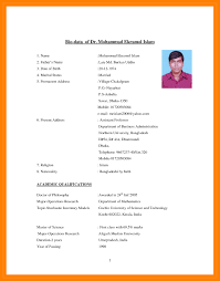 Biodata Resume Biodata Format With Photo