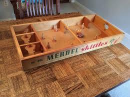 Skittles Wooden Board Game Vintage Merdel Skittles 100 wooden board bowling game w 100pins 45
