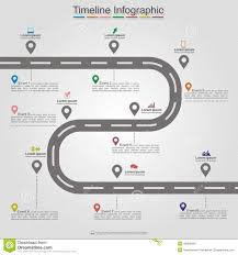 Road Infographic Timeline Element Layout Vector Stock