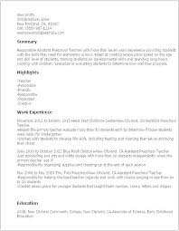Early Childhood Education Resume Awesome Resume Examples Education Australia With Resume Samples Early