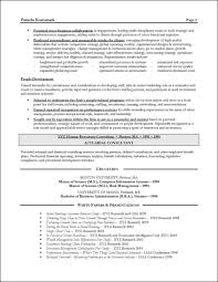 Cover Letter Consulting Resume Example Resume Example For