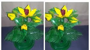 USE PLASTIC BOTTLE TO MAKE AMAZING DESIGNS <b>FLOWER</b> ...