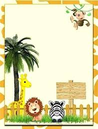 Jungle Theme Birthday Invitations Great Free Jungle Theme Party Invitation Templates Idea