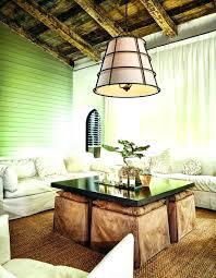 troy lighting sausalito habitat liberty rust pendant light with empire shade collection