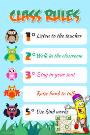 classroom rules template class rules poster theme animal kids and kindergarten template