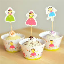 Cupcake Decorating Accessories Flying Fairy Cupcake Wrapper Toppers for Gils Children Happy 45