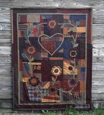 319 best Primitive/ vintage quilts images on Pinterest | DIY ... & PPL028 Holy Matchimony Thing-pieced/appliqued quilt with decorative stitches Adamdwight.com