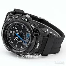 ohsen lcd dual core watch mens sport date day stopwatch black ohs049 0 3