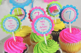 Pajama Party Birthday Cupcake Toppers Sleepover Slumber Party