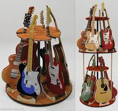 6 or 12 guitar stand rotating multiple