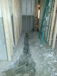 installing a basement bathroom. Getting Ready For Drain Installation Installing A Basement Bathroom O