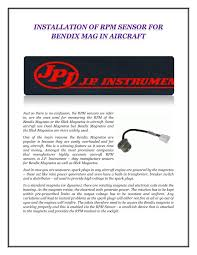 Slick Magneto Application Chart Ppt Installation Of Rpm Sensor For Bendix Mag In Aircraft