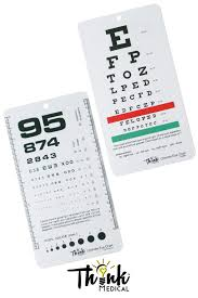 Pocket Eye Chart Ultimate Rosenbaum Snellen Pocket Size Eye