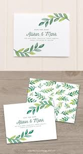 Botanical Save The Date Template Greenery Wedding Save The