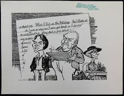 William Bill Hewison, original cartoon, Lent, Lyric Studio, Punch 9 Mar  1983, Jonathan Kent, Wensley for sale at auction from 11th February to 11th  February   Bidsquare