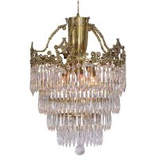 crystal chandelier with wedding cake design and a lovely cast brass crown for