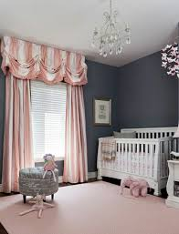 Kids Room: Pink Grey Nursery Room Ideas - Kids Bed
