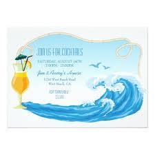 Beach Invitation Nautical Beach Theme Summer Cocktail Party Invitation Card