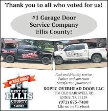 1 garage doorservice companyellis county