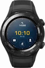 huawei smartwatch. huawei - watch 2 sports smartwatch 45mm plastic carbon black front_zoom
