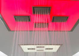 kohler watertile ambient rain overhead showering panel installed watertile ambient rain overhead showering panel from kohler