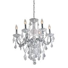 Shop Portfolio 20 86 In 6 Light Polished Chrome Vintage Crystal