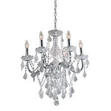 portfolio 20 86 in 6 light polished chrome vintage crystal candle chandelier