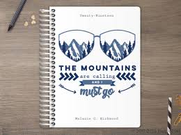 Custom Daily Planner Mountains Are Calling Custom Daily Planner Daily Planners