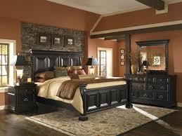 Rustic Black Bedroom Furniture Rustic Bedroom With Brown Wall Colors And Black Bedroom Furniture