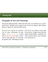format of presentation of project latex templates presentations