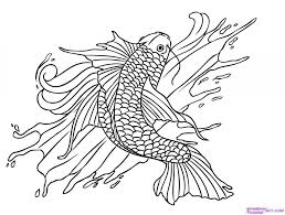 Small Picture Good Koi Fish Coloring Page 96 On Download Coloring Pages with Koi