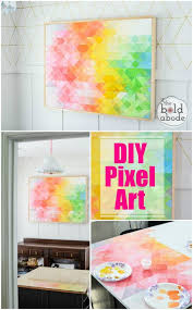 diy pixel abstract art