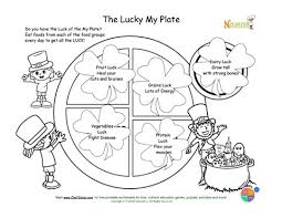 Small Picture Holiday 3 Lucky My Plate Coloring Page St Patricks Day Theme