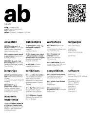 The Top Architecture Rsum/CV Designs,Submitted by Andrea Bit