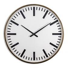 iron framed station clock black