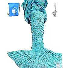 Mermaid Blanket Pattern Delectable Amazon Mermaid Tail Blanket DDMY Knit Crochet Mermaid Blanket