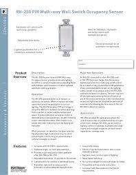 Stairwell Lighting Occupancy Sensor Rh 250 Pir Multi Way Wall Switch Occupancy Sensor