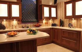... Kitchen Design, Brown And Cream Rectangle Unique Wooden Kitchen Design  Home Depot Varnished Design With ...