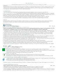 Google Product Manager Resume Product Manager Resume O O Google ...