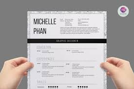 One Page Resume Templates Modern 1 Page Resume Template Example Document And Resume