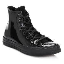 converse black all star hi patent leather trainers black women converse trainers h45m8528