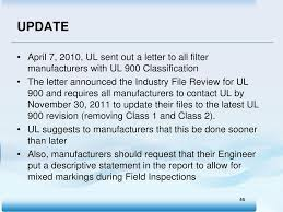 Ul Classification And Current Changes Ppt Download