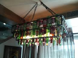 beer bottle chandelier kit diy