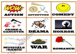 Film Genres Films Genres Esl Worksheet By Mariojr912000